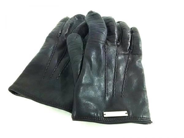 DSQUARED2(ディースクエアード) 手袋 レディース ボルドー レザー