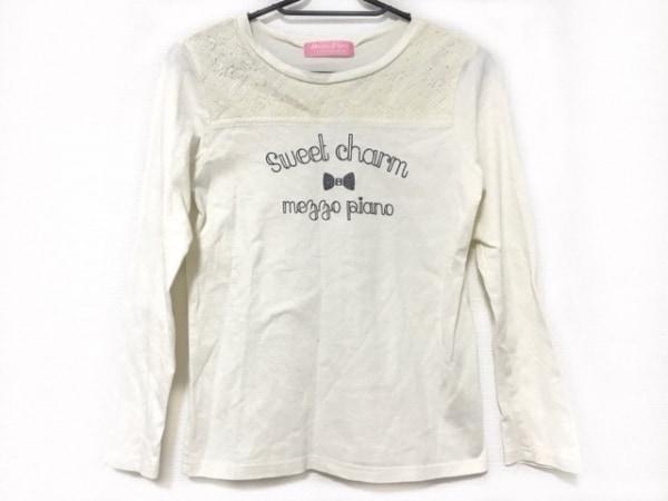 mezzo piano(メゾピアノ) 長袖Tシャツ サイズM レディース 白 子供服