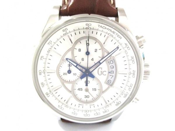 Gc(ジーシー) 腕時計美品  X81001G1S メンズ クロノグラフ シルバー