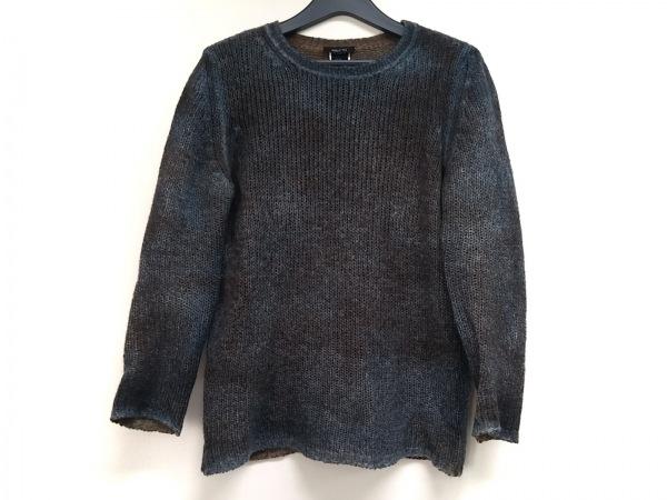 avant toi(アヴァントワ) 長袖セーター サイズS メンズ ネイビー×ブラウン