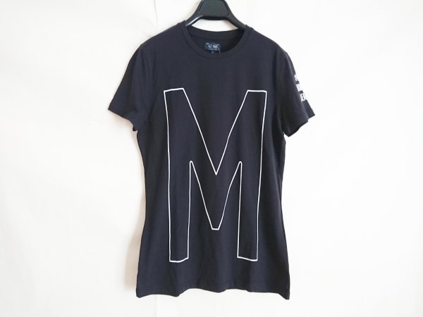 ARMANIJEANS(アルマーニジーンズ) 半袖Tシャツ メンズ美品  黒