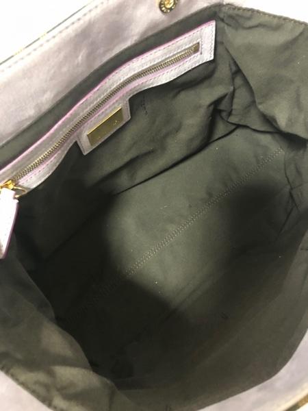 フェンディ ハンドバッグ エトニコ/ズッカ柄 8BN157 黒×ダークブラウン×パープル