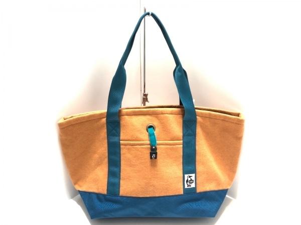 CHUMS(チャムス) ショルダーバッグ オレンジ×ブルー コットン×化学繊維