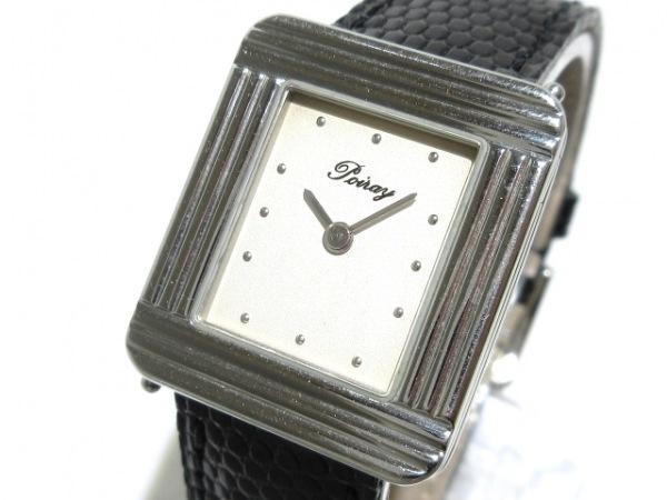 poiray(ポアレ) 腕時計 マ・プルミエ - レディース SS/リザードベルト アイボリー