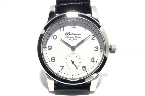 B-Barrel(ビーバレル) 腕時計 BB-0030 メンズ 社外革ベルト 白