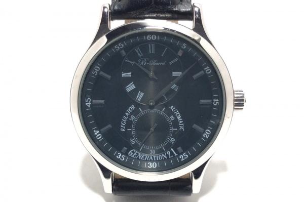 B-Barrel(ビーバレル) 腕時計 レギュレーター BBX-008 メンズ 裏スケ/革ベルト 黒