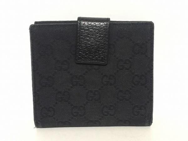 GUCCI(グッチ) Wホック財布 GG柄 120932 黒 ジャガード