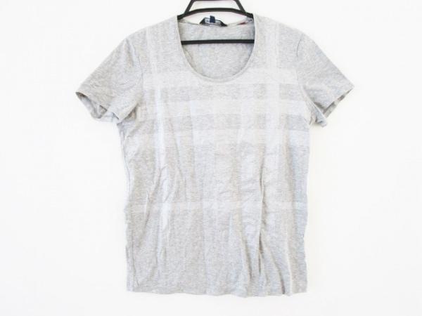 バーバリーロンドン 半袖Tシャツ サイズ2 M レディース グレー×シルバー ラメ