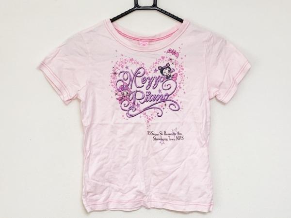 メゾピアノ 半袖Tシャツ サイズS レディース ピンク×パープル 子供服/ラメ