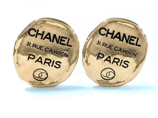 CHANEL(シャネル) イヤリング美品  金属素材 ゴールド×黒