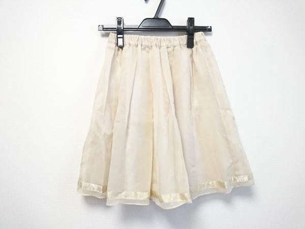 JUSGLITTY(ジャスグリッティー) スカート サイズ2 M レディース美品  ベージュ