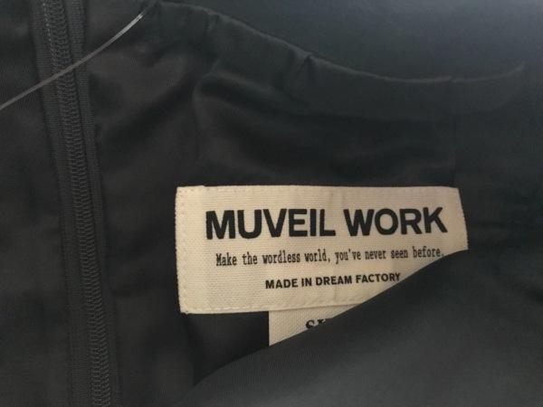 MUVEIL WORK(ミュベールワーク) スカート レディース美品  ネイビー レザー