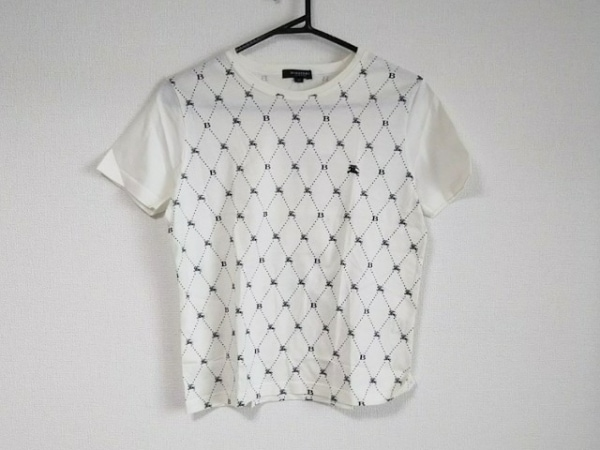 バーバリーロンドン 半袖Tシャツ サイズ38 L レディース美品  白×黒