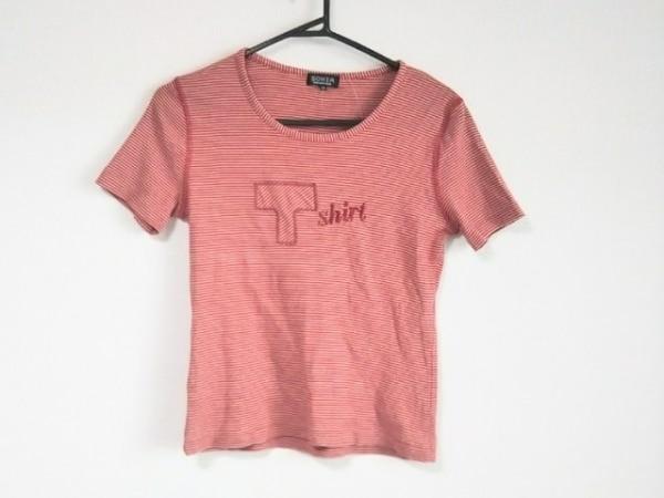 ソニアリキエル 半袖Tシャツ サイズ40 M レディース美品  ベージュ×レッド