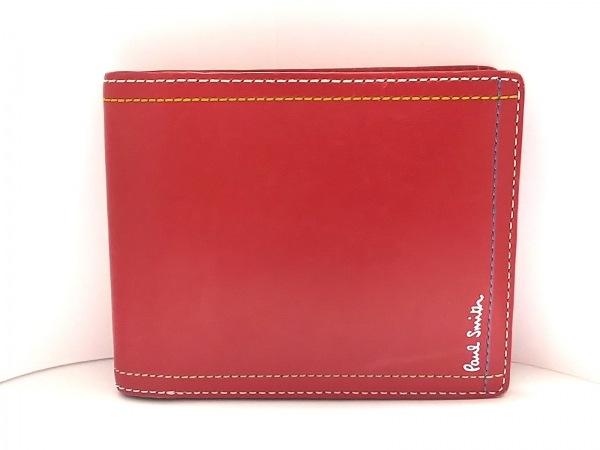 PaulSmith(ポールスミス) 2つ折り財布 レッド レザー