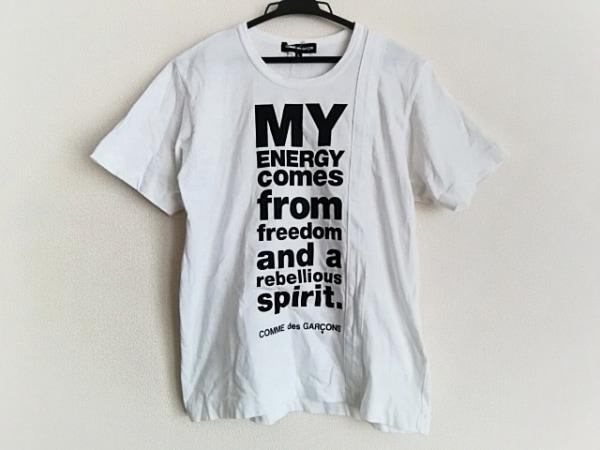 COMMEdesGARCONS(コムデギャルソン) 半袖Tシャツ サイズL レディース 白×黒