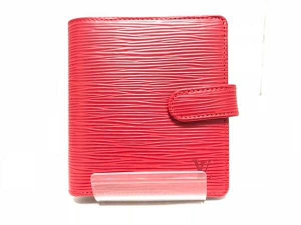 ルイヴィトン 2つ折り財布 エピ美品  ポルト ビエ・コンパクト M63557 レザー