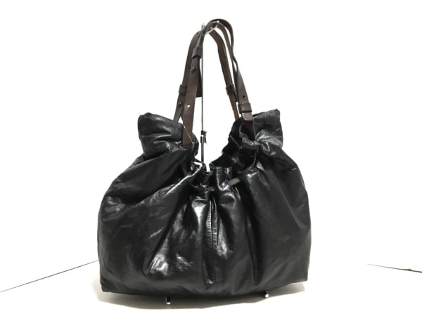 CAMPER(カンペール) ショルダーバッグ 黒×ブラウン 合皮×レザー