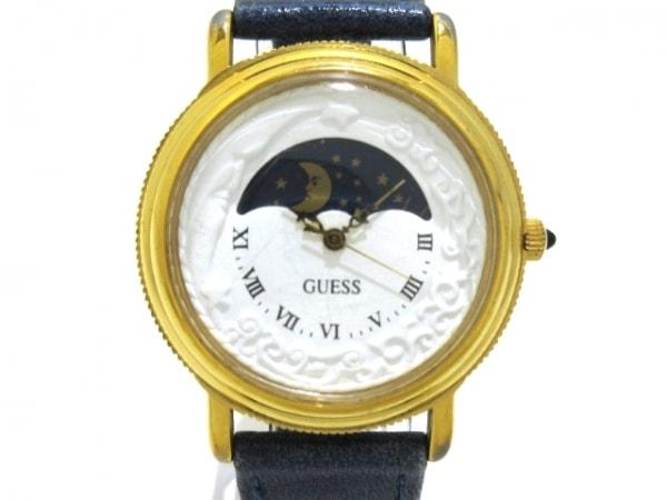 GUESS(ゲス) 腕時計 - ボーイズ 革ベルト/社外ベルト 白