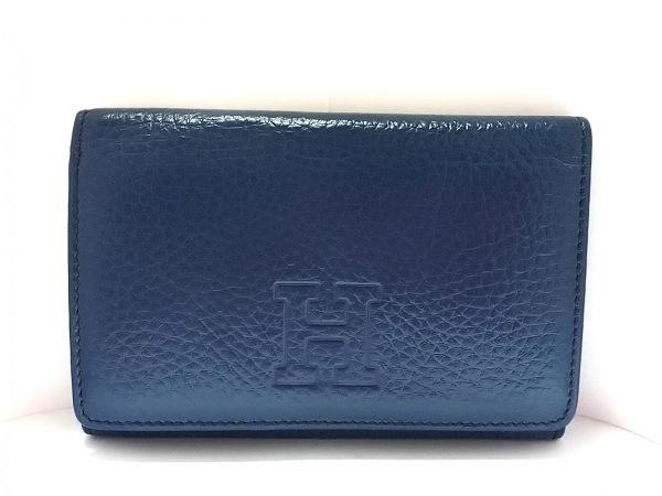 HIROFU(ヒロフ) 2つ折り財布美品  ブルー レザー