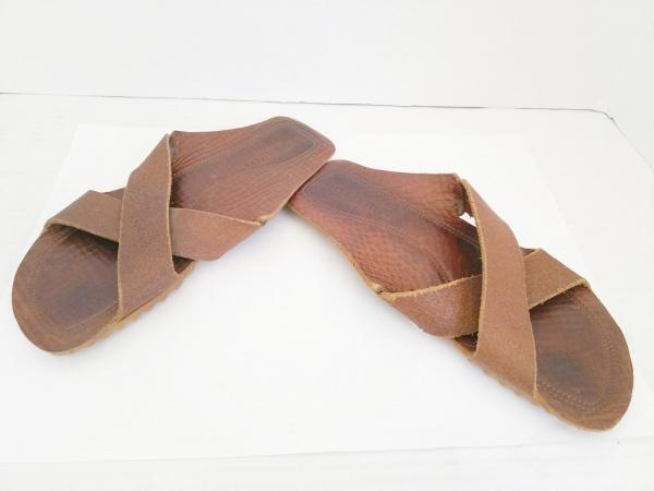 BUTTERO(ブッテロ) サンダル 41 メンズ ダークブラウン レザー
