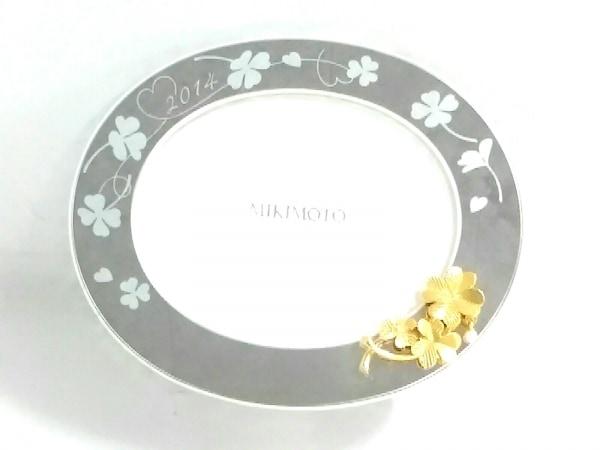 ミキモト 小物美品  シルバー×ゴールド×パールホワイト 写真立て/クローバー
