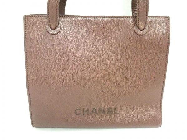 CHANEL(シャネル) トートバッグ - ダークブラウン 刺繍 レザー