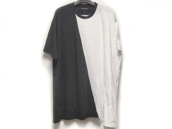 ダイエットブッチャースリムスキン 半袖Tシャツ メンズ 白×黒