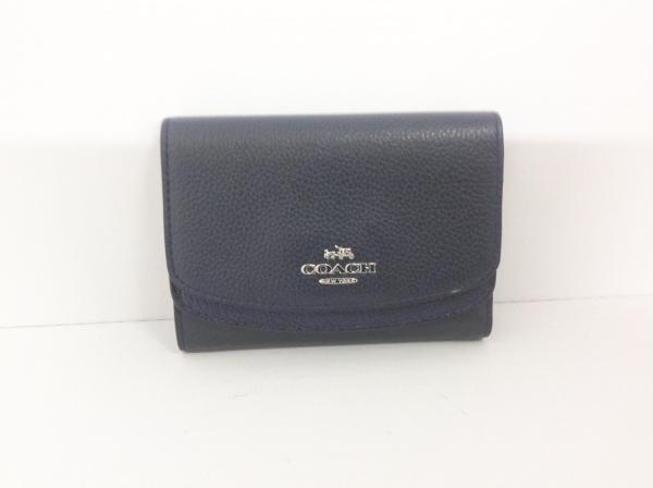 COACH(コーチ) 2つ折り財布 - 53852 ダークネイビー レザー