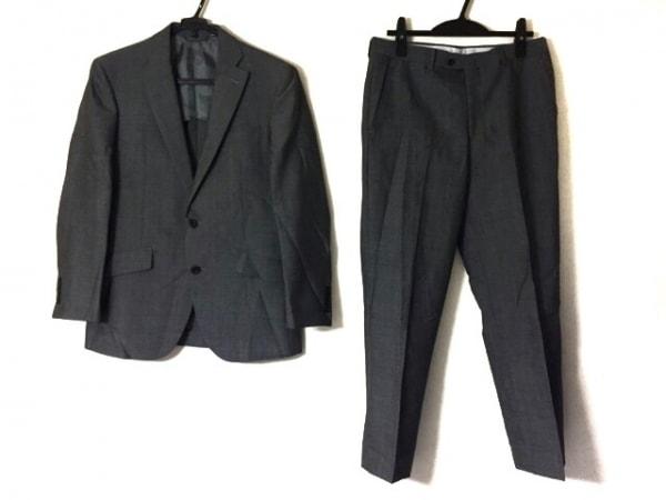 リチャードジェームス シングルスーツ メンズ ダークグレー ネーム刺繍