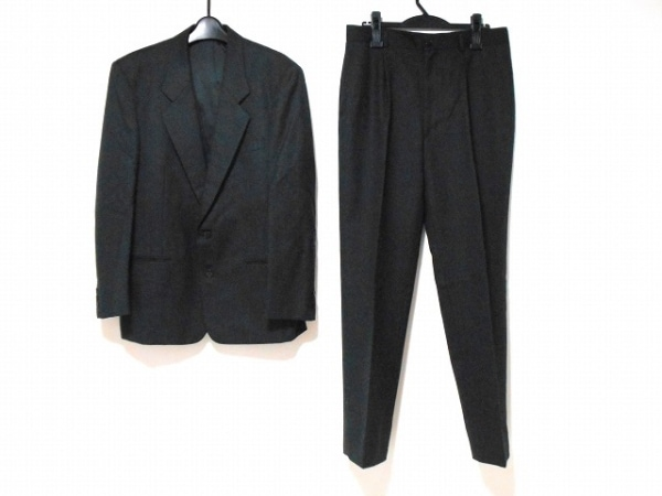 JUN MEN(ジュンメン) シングルスーツ サイズLL メンズ グレー×黒