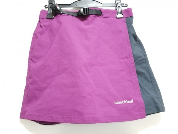 mont-bell(モンベル) ショートパンツ サイズM レディース美品  パープル×ネイビー