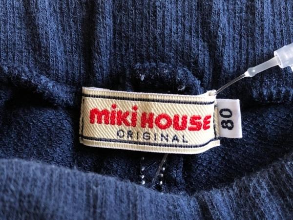 miki HOUSE(ミキハウス) パンツ サイズ80 ユニセックス ネイビー×マルチ 子供服
