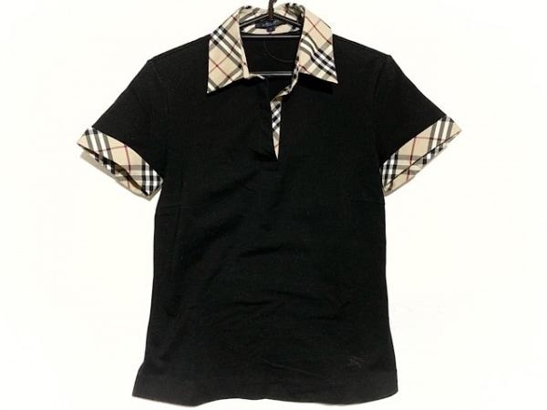 バーバリーロンドン 半袖ポロシャツ サイズ1 S レディース美品  チェック柄