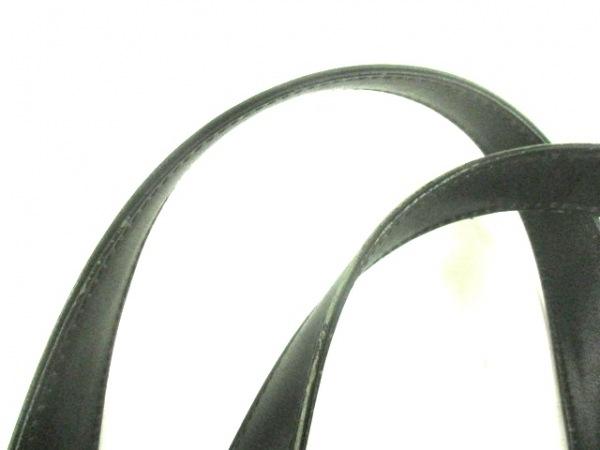 印傳屋(インデンヤ) ハンドバッグ 黒 化学繊維×レザー