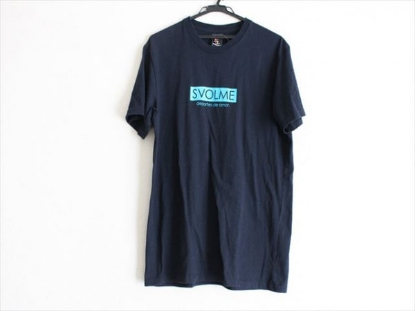 SVOLME(スボルメ) 半袖Tシャツ サイズXL メンズ ダークネイビー×ブルー