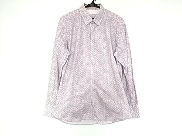 ポッジャンティ1958 長袖シャツ サイズL メンズ美品  白×パープル 花柄