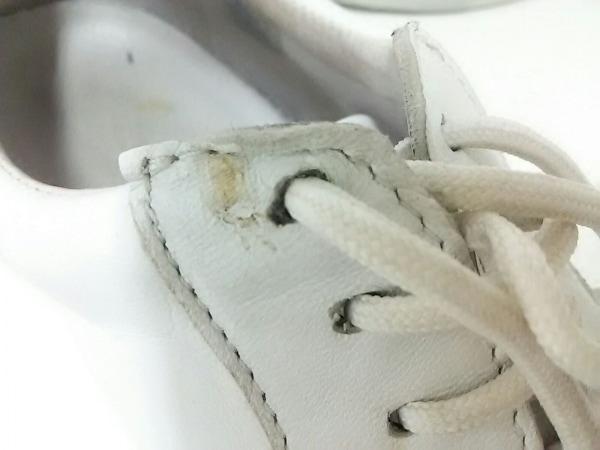 エーエムビー シューズ 42 メンズ 白×シルバー レザー