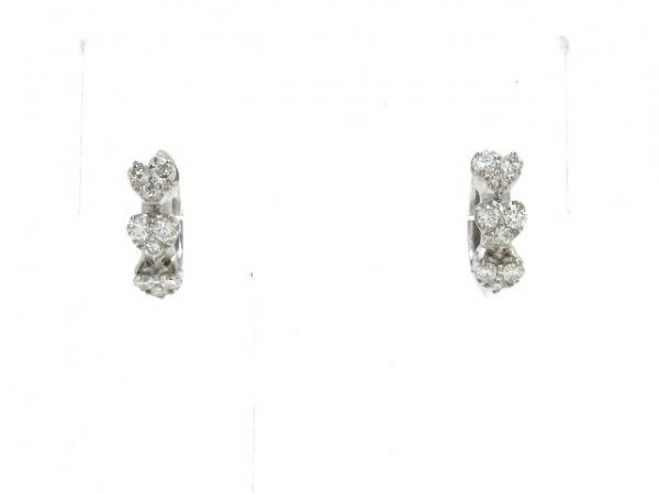 ポンテヴェキオ ピアス新品同様  K18WG×ダイヤモンド 0.20カラット/ハート