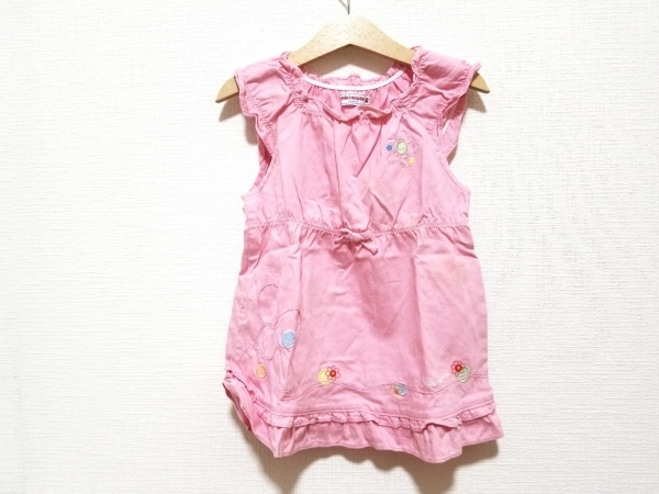 ミキハウス ワンピース サイズ90 レディース ピンク×マルチ フラワー/子供服