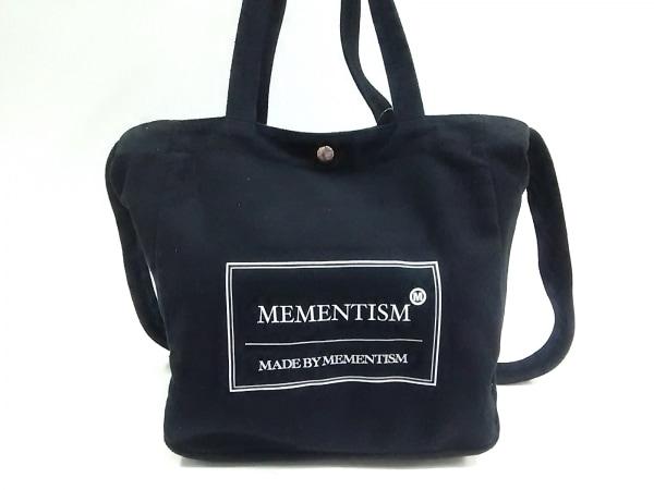 MEMENTISM(メメントイズム) トートバッグ 黒×白 2way キャンバス