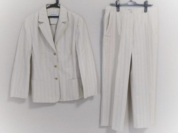 McDavid(マックデイビッド) レディースパンツスーツ レディース ベージュ×白×マルチ