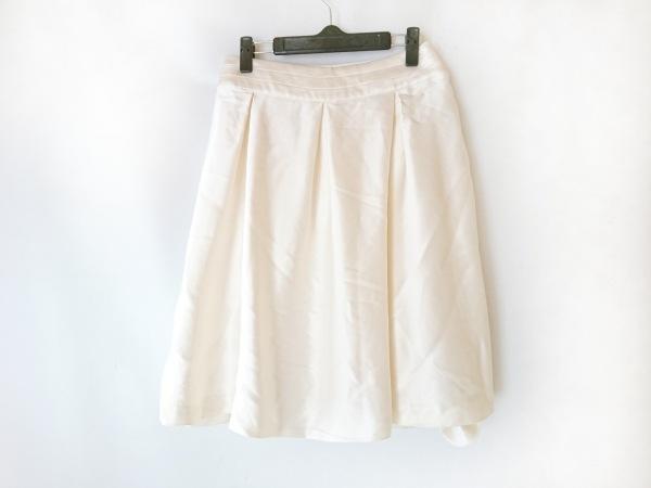 6488eca78844 CELINE(セリーヌ) スカート サイズ38 M レディース アイボリー シルクの ...