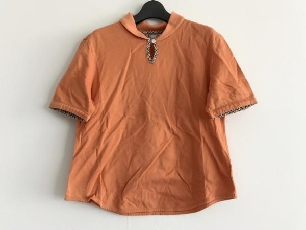 DAKS(ダックス) 半袖ポロシャツ サイズM レディース オレンジ×マルチ
