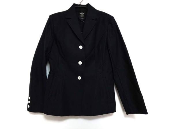 wb(ダブリュービー) ジャケット サイズ3 L レディース美品  黒 肩パッド/MOGA