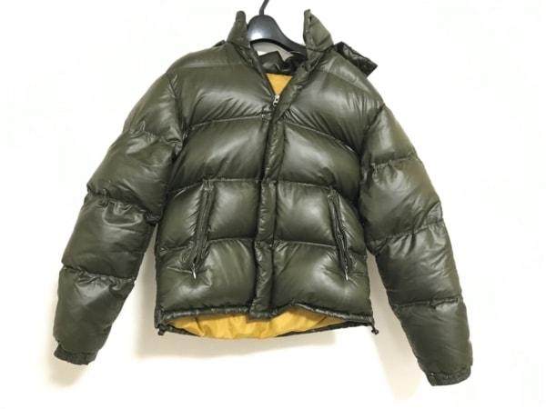 Harriss(ハリス) ダウンジャケット サイズ42 L メンズ美品  カーキ 冬物/ジップアップ