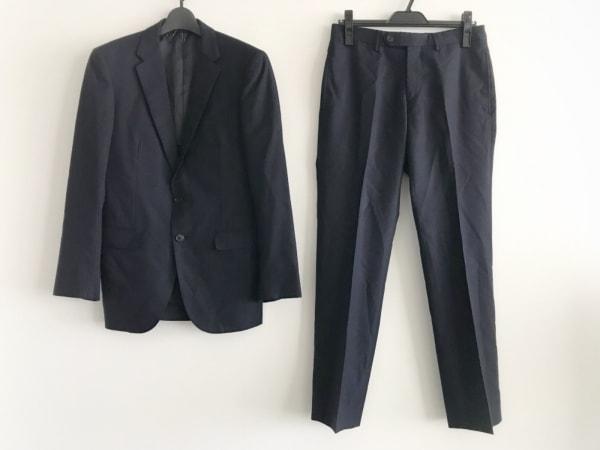 ユナイテッドアローズ シングルスーツ サイズ44 L メンズ ネイビー ストライプ