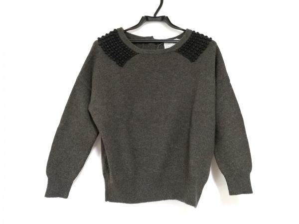 BEARDSLEY(ビアズリー) 長袖セーター サイズF レディース美品  カーキ×黒