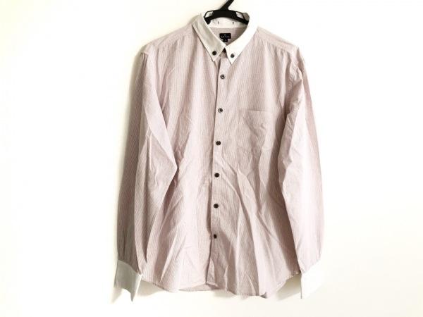 PaulSmith(ポールスミス) 長袖シャツ サイズL メンズ レッド×白 チェック柄