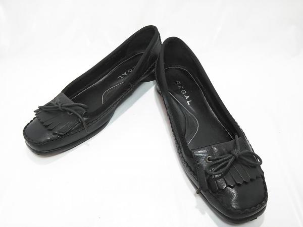 REGAL(リーガル) パンプス 24 レディース 黒 リボン レザー